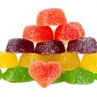 Fruit jellies hearts — Stock Photo #56320123