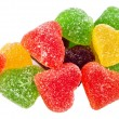 Fruit jellies hearts — Stock Photo #56320521