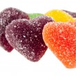 Fruit jellies hearts — Stock Photo #56321019