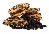 Cookie with raisin — Stock Photo