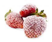 Frozen strawberry — Stockfoto