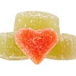 Fruit jellies hearts — Stock Photo #59554817