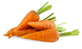 Zanahorias en blanco — Foto de Stock