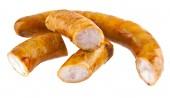 Sausage on white — Stock Photo