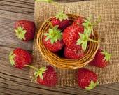 Fresh and juicy strawberry — Stock Photo