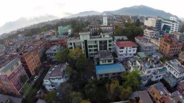 Aerial view of Kathmandu in Nepal — Stock Video