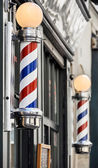 Barber shop sign in Paris — Stock Photo