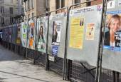 Election boards in Paris, France — Stock Photo