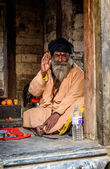 A sadhu at Pashupatinath in Kathmandu, Nepal — Stock Photo