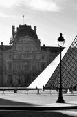 The Louvre Museum in Paris — Stock Photo