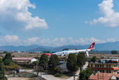 Turkish Airlines Airbus crash at Kathmandu airport — Stock Photo