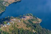 Phewa Lake aerial view in Nepal — Stock Photo