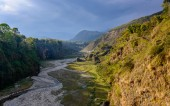 The Bhalam river in Pokhara — Stock Photo