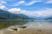 Phewa lake in Pokhara — Stock Photo