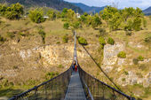 Suspension bridge in Pokhara, Nepal — Stock Photo