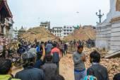 Nepal earthquake in Kathmandu — ストック写真