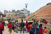 Nepal earthquake in Kathmandu — Stock Photo