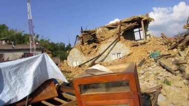 Buildings are damaged by Nepal earthquake — Stock Video