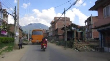 Building are damaged by Nepal earthquake — Stock Video