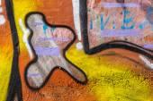 Belo Grafite arte de rua. Resumo criativa desenho moda — Fotografia Stock