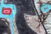 красиві вуличне мистецтво графіті. анотація творчі малювання моди — Stok fotoğraf