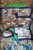Beau graffiti art de rue. Résumé mode dessin créatif — Photo