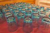 Rows of drinking glasses — Stock Photo