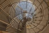 Abstract view through spiral staircase — Stock Photo