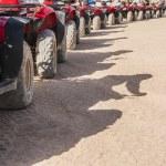 Closeup of ATV tyres in a row — Stock Photo #61476115