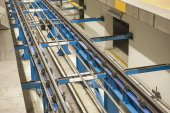 Tracks at an underground metro station — Stock Photo
