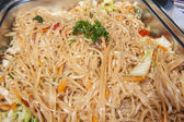 Pad Thai meal at a chinese restaurant buffet — Stock Photo