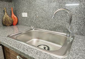 Kitchen interior design of luxury apartment — Stock Photo
