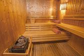 Sauna in a health spa — Stock Photo