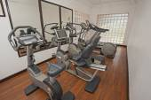 Exercise machines in private gym — Stock Photo