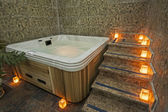 Jacuzzi in a health spa — Stock Photo