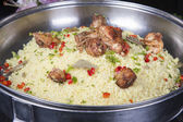 Oriental kabsa rice at a hotel restaurant buffet — Stock Photo