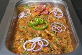 Oriental potato dish at a restaurant buffet — Stock Photo