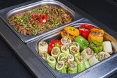 Dolma stuffed vegetables at an oriental restaurant buffet — Stock Photo