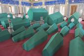 Coffins in an old Turkish mausoleum — Stock Photo