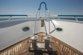 Bow of a luxury motor yacht — Stock Photo