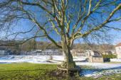English rural village landscape in the winter — Stock Photo