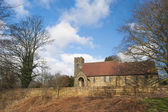 Old church in English rural village — Stock Photo