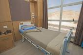 Bed in a hospital ward — Stock Photo