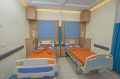 Beds in a hospital ward — Stock Photo