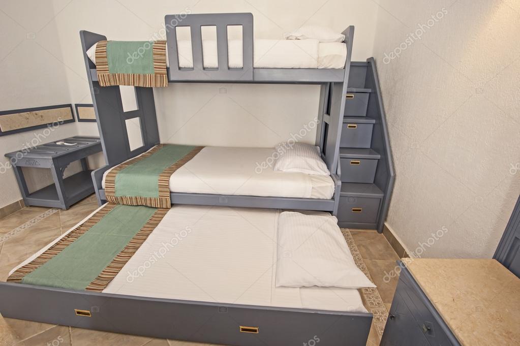 Etagenbett Familie Schlafzimmer Konzeptidee Stockfoto