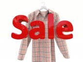Sales and shirt — Stock Photo
