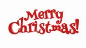 Merry Christmas lettering isolated — Stock Photo