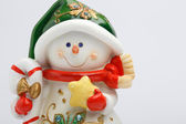 Cheerful snowman — Stock Photo