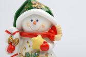 陽気な雪だるま — ストック写真