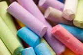 Sidewalk chalk — Stock Photo